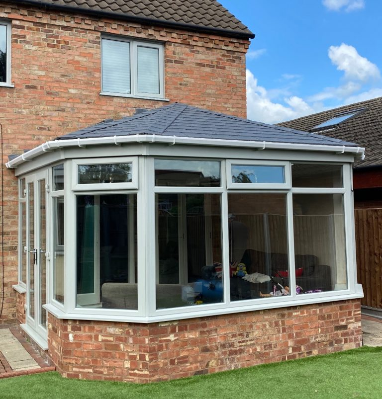 Agate grey tiled roof on conservatory