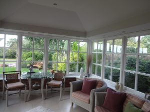 inside of a tiled conservatory roof